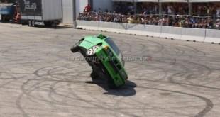 Una delle esibizioni degli stuntman a Truck in Sud 2018