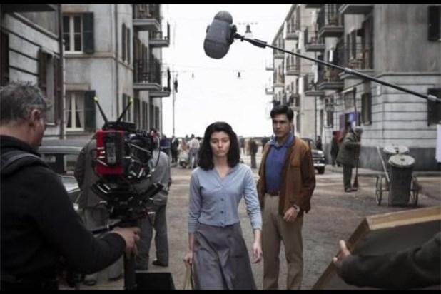 Una scena dal set de L'Amica Geniale 2. Foto dal web