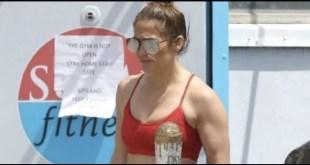 Jennifer Lopez paparazzata fuori la palestra. Foto dal Web