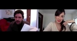 Un frame di L'Immunità di Gregge con Checco Zalone e Virginia Raffaele