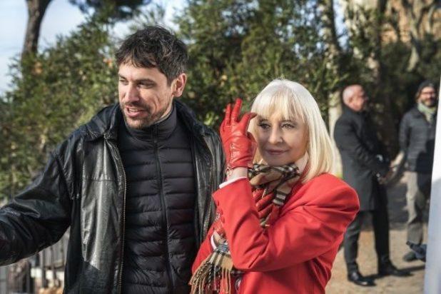Nacho Álvarez e Raffaella Carrà sul set di Ballo ballo. Foto di Paolo Ciriello