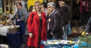 Serena Autieri e Vincenzo Salemme sul set