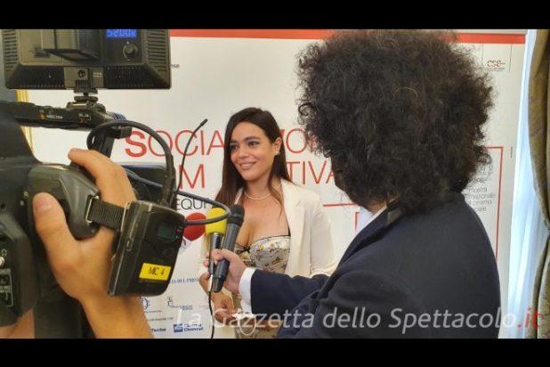 Pina Turco durante la Conferenza Stampa del Social World Film Festival