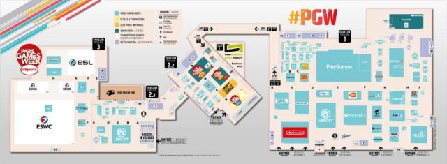Paris Games Week 2017 PGW Plan