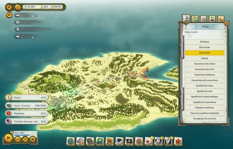 Tropico 6 filtres ville criminalité Kalypso AK&CO jeu de gestion simulation dictature