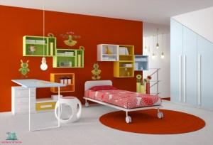 come scegliere il colore per decorare una cameretta di rosso secondo L'Agenda di mamma Bea