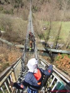 la montagna pistoiese e il ponte sospeso descritto da L'Agenda di mamma Bea