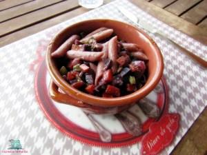 Pasta e fantasia penne integrali con ragù di verdure cucinate da L'Agenda di mamma Bea