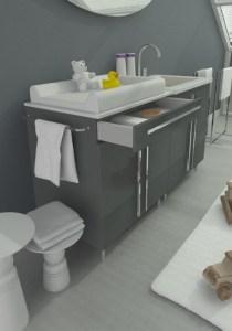 idee per un bagno con fasciatoio secondo L'Agenda di mamma Bea