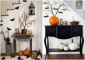 decorare l'ingresso pe Halloween con L'Agenda di mamma Bea