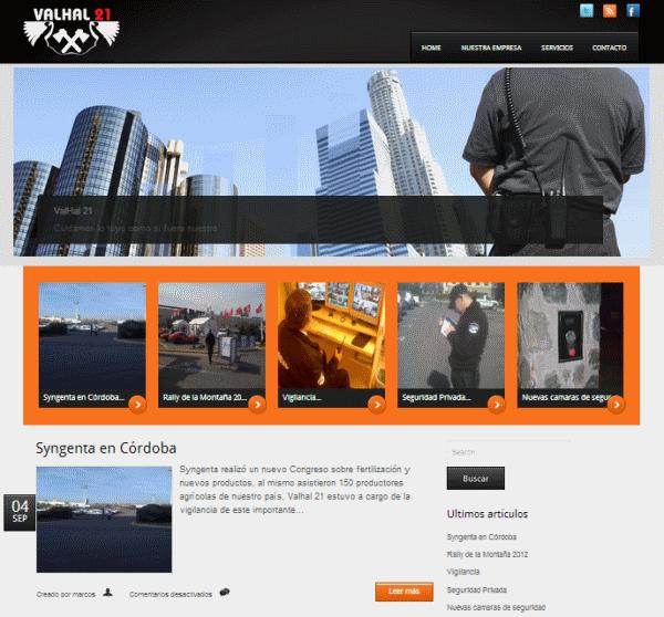Sitio web de valhal21.com.ar