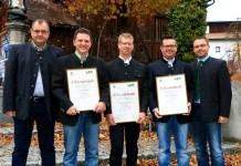 Ehrungsfeier in Imst - Drei Mieminger werden für ihre Dienstleistungen ausgezeichnet Foto: Ing. Johann Hoffmann