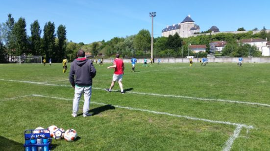 Football match at the FC Sud Charente in Chalais