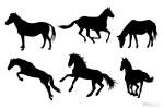 馬のシルエット素材