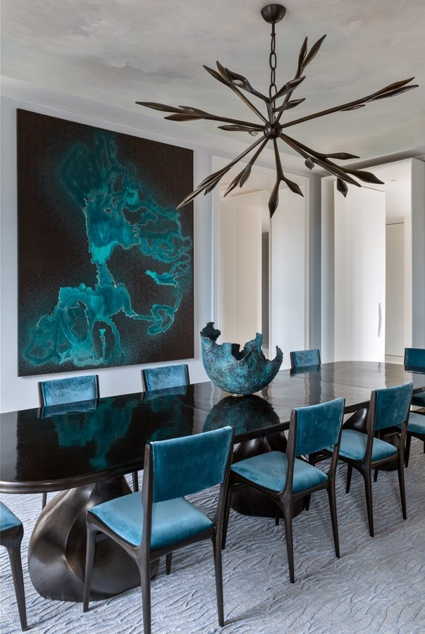 velvet chair design for baby shower to rent beautiful blue chairs in this interior designed by french designer damien langlois meurinne