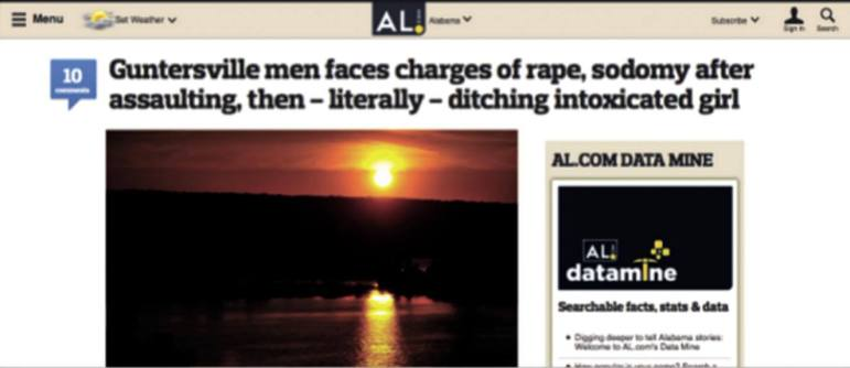 An insensitive headline on al.com from May was rewritten after widespread reader complaints.