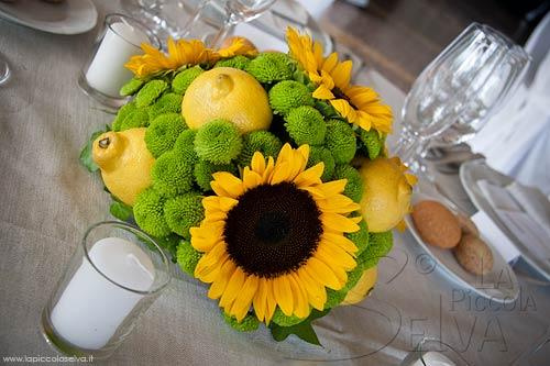 Girasoli Finti Matrimonio : Matrimonio a tema giallo con girasoli e limoni