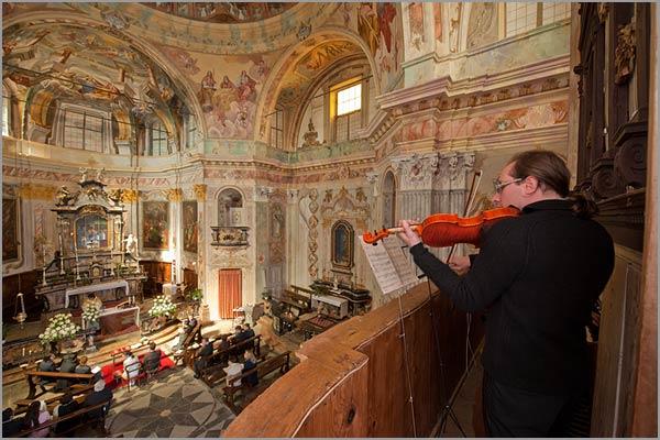 violinista matrimonio chiesa Madonna del Sasso lago d'Orta
