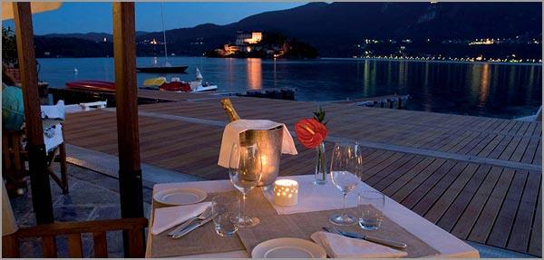 ristorante matrimonio Orta con terrazza sul lago
