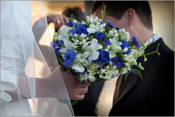 bouquet sposa fiordalisi blu