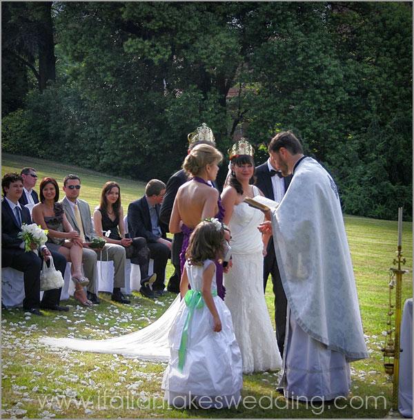 matrimonio ortodosso in villa a Stresa