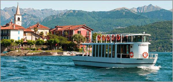 servizio motoscafi navigazione Isola Pescatori Lago Maggiore