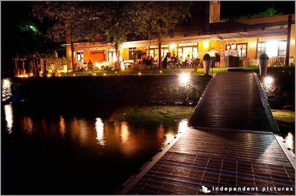 ristorante matrimonio sulla spiaggia Lago d'Orta