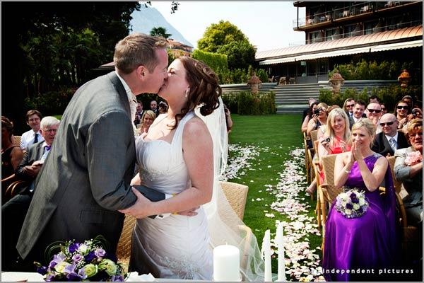 cerimonia matrimonio all'aperto Hotel Dino Lago Maggiore