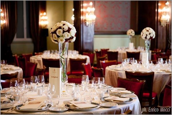centrotavola matrimonio Grand Hotel Majestic Pallanza