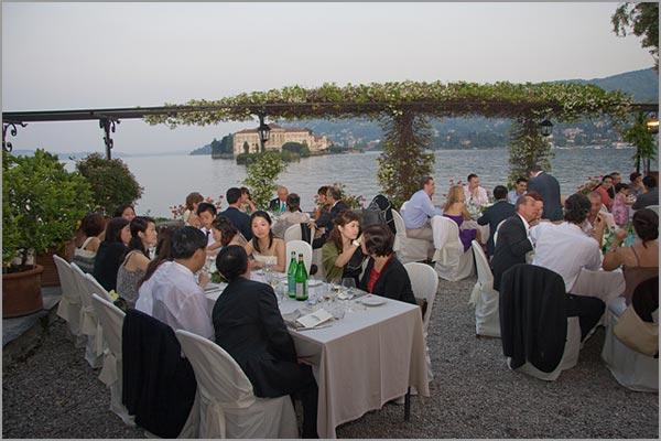 banchetto matrimonio hotel ristorante Verbano isola dei Pescatori