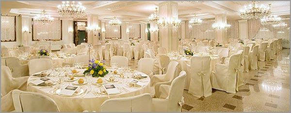 matrimonio sala ristorante Hotel Bristol Stresa