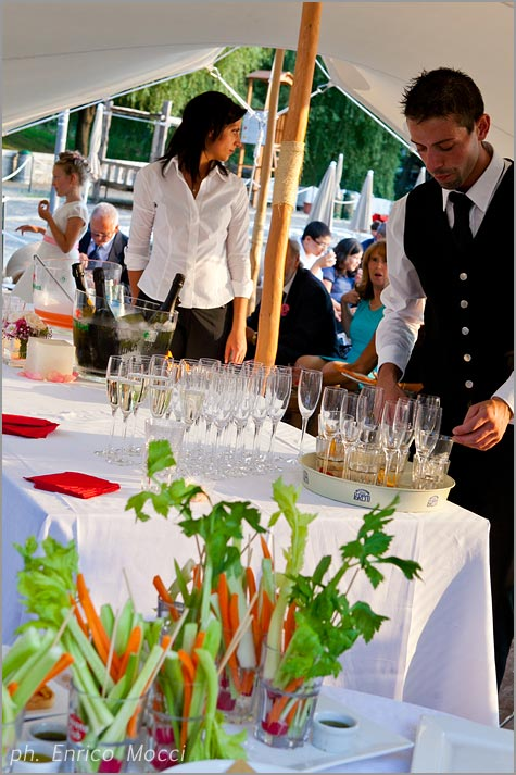 aperitivo nozze Orta Beach Club