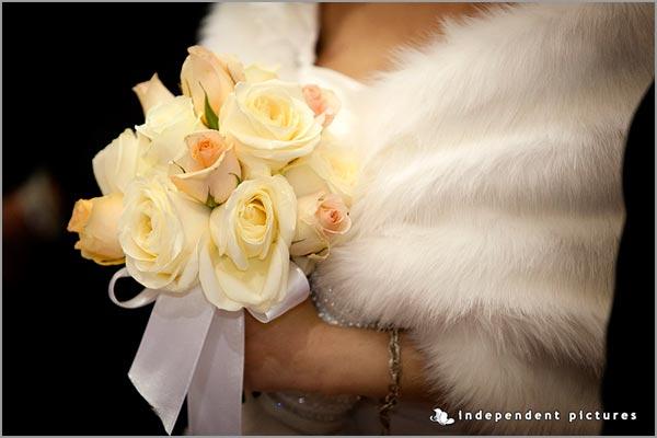 bouquet rose color pesca