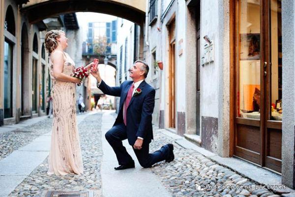 anniversario di matrimonio sul lago d'Orta