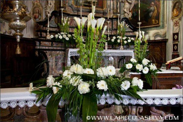 Matrimonio Natalizio Addobbi Chiesa : Fiori matrimonio orta stresa