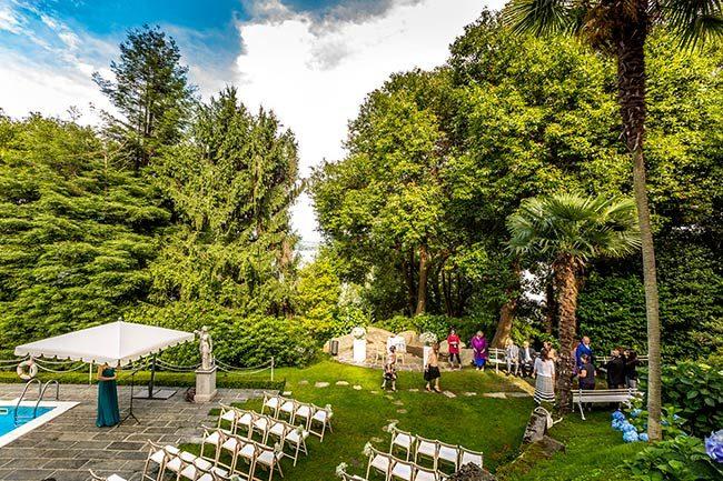 Villa Claudia Dal Pozzo © Cerimonia nel parco