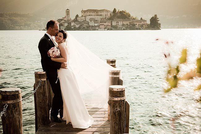 Matrimonio al lago d'Orta © foto Enrico Mocci