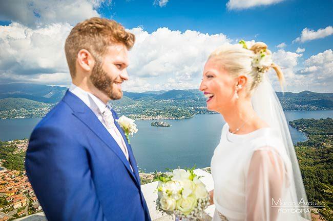 Matrimonio a Madonna del Sasso, lago d'Orta © foto Marco Arduino