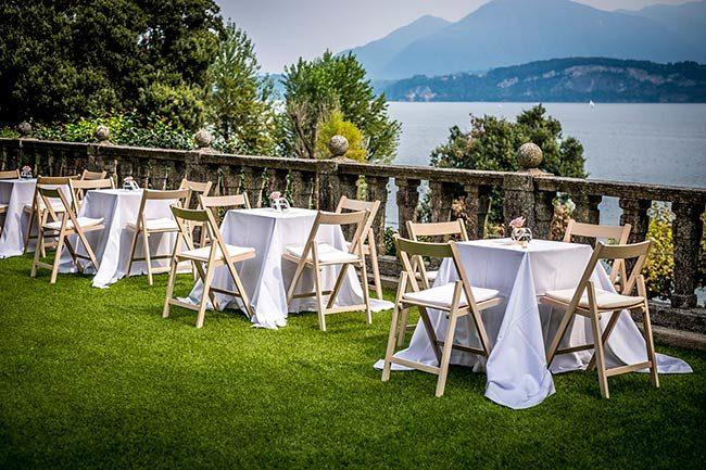 Villa Claudia Dal Pozzo © aperitivo in terrazza vista lago