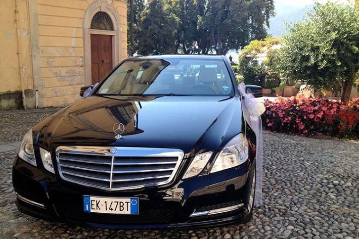 Noleggio Mercedes matrimonio lago Maggiore