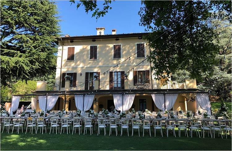 Catering ricevimento di matrimonio Villa Gajum