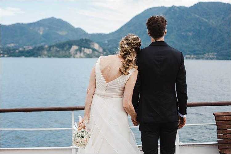 Ricevimento in battello sul Lago Maggiore