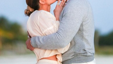 Alex Rodriguez and Jennifer Lopez Beach Side Proposal