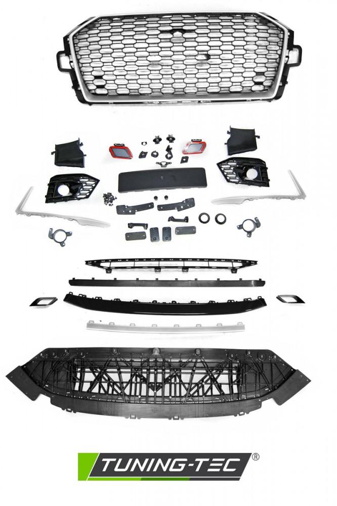 Paraurti anteriore Audi A4 B9 15-19 RS4 Style Black (PDC