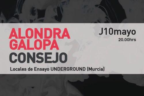 Alondra Galopa + Consejo, Jueves 10 de Mayo, Murcia