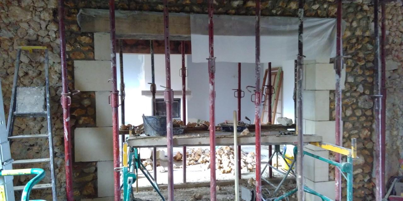 Les travaux dans la maison principale