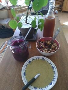 Soup, salad and fermentation