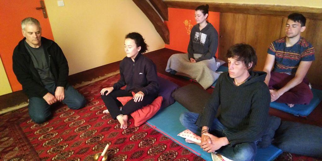 Meditation participants