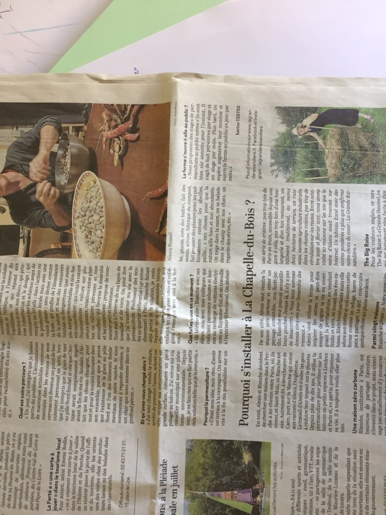 A full page about us in the local paper