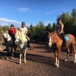 Karine vous accueillera avec Novice son cheval au gîte location de vacances la grange des puys
